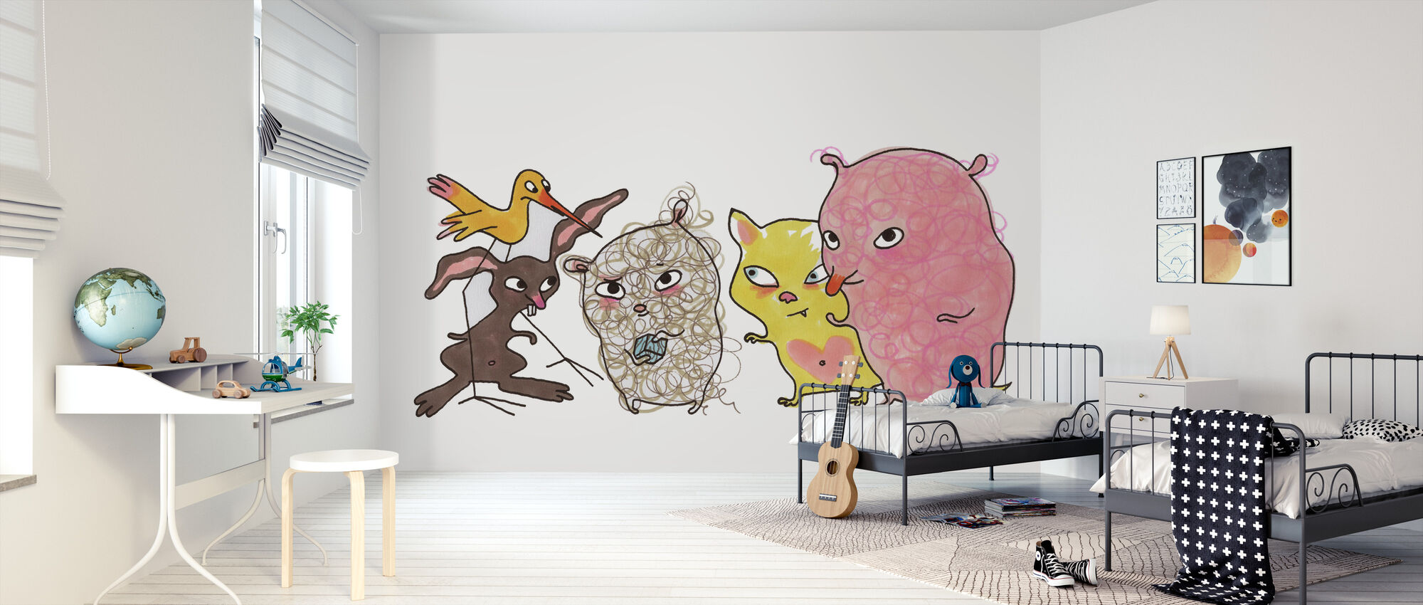 Vemdjuren 1 - Wallpaper - Kids Room