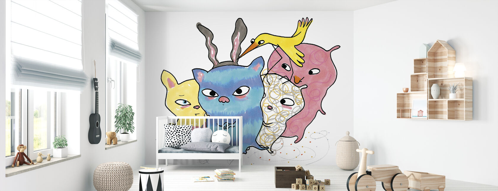 Vemdjuren 3 - Wallpaper - Nursery