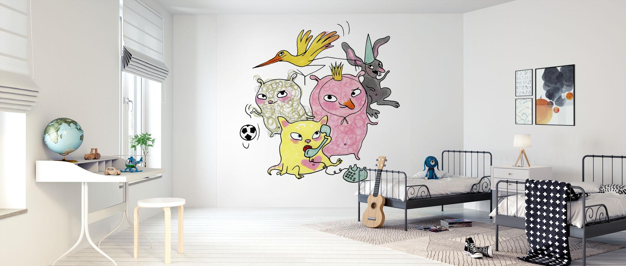 Vemdjuren 4 - Wallpaper - Kids Room