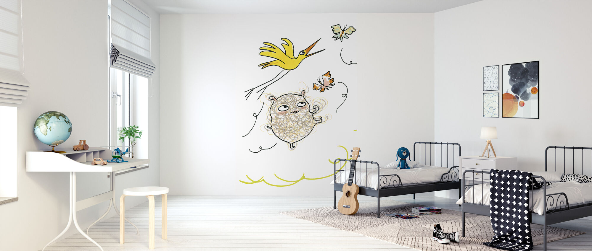 Whose Butterfly 1 - Wallpaper - Kids Room