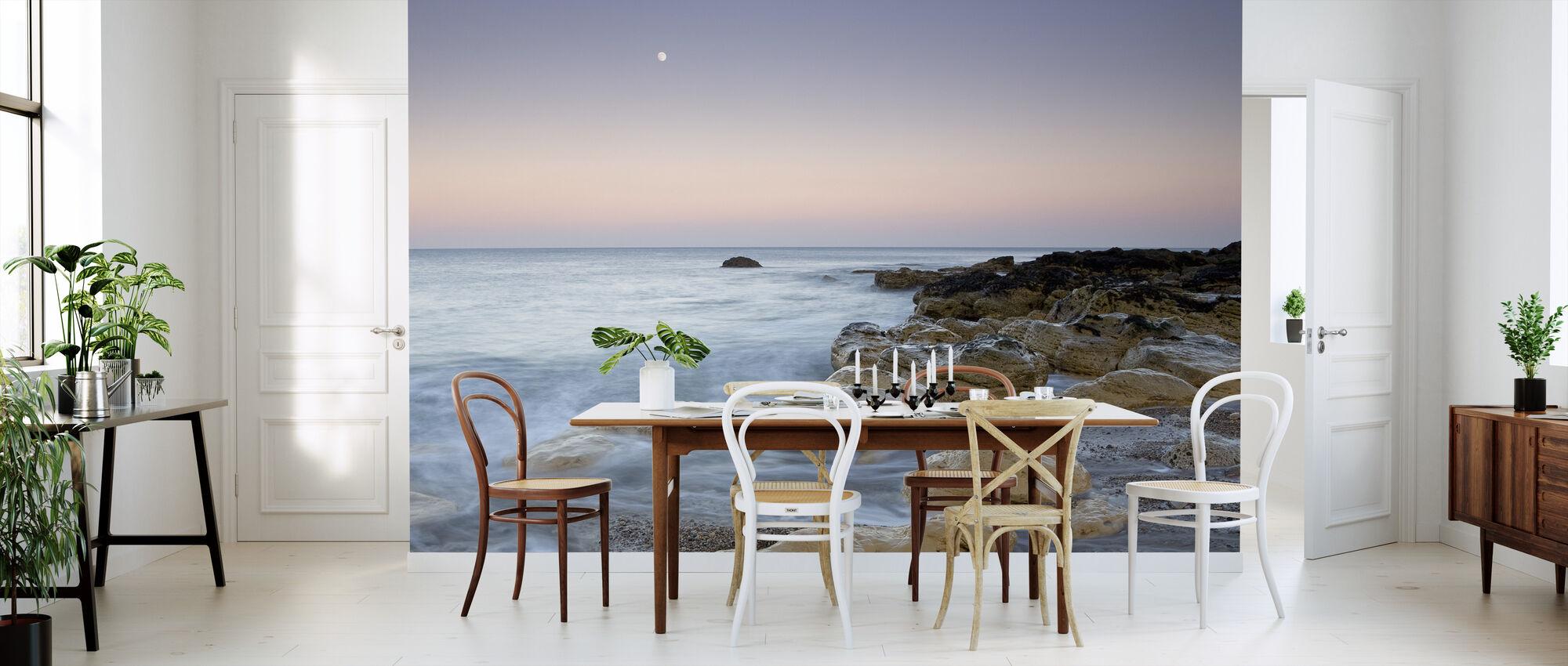 Moonrise over the Sea - Wallpaper - Kitchen