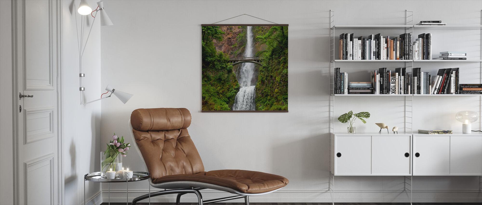 Multnomah Falls - Poster - Living Room