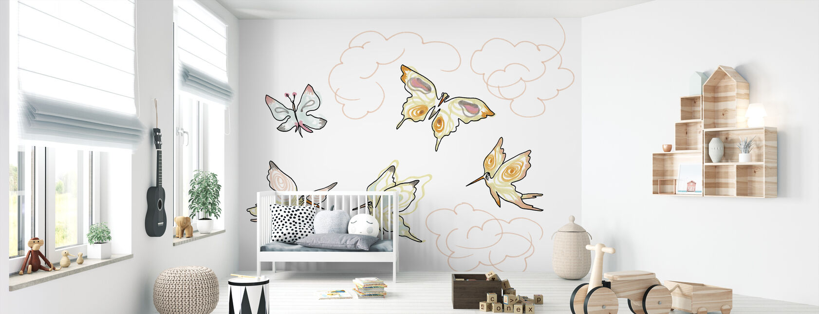 Whose Butterfly 2 - Wallpaper - Nursery
