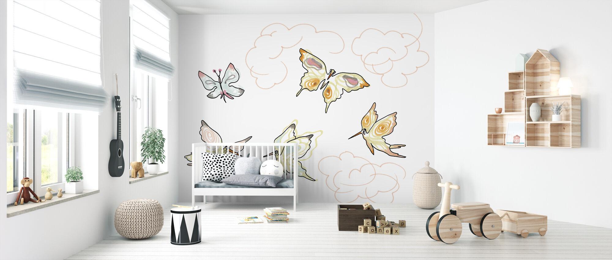 Hvis sommerfugl 2 - Tapet - Babyværelse