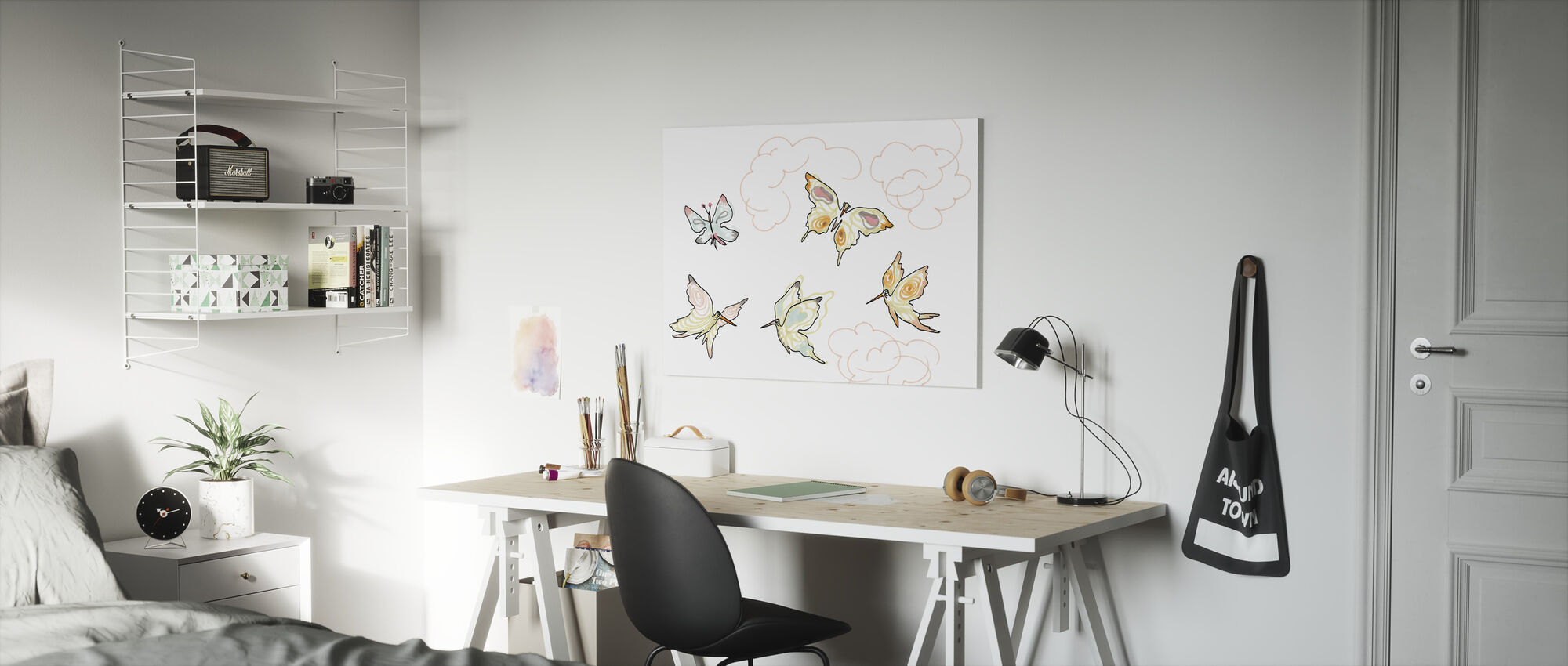 Whose Butterfly 2 - Canvas print - Kids Room