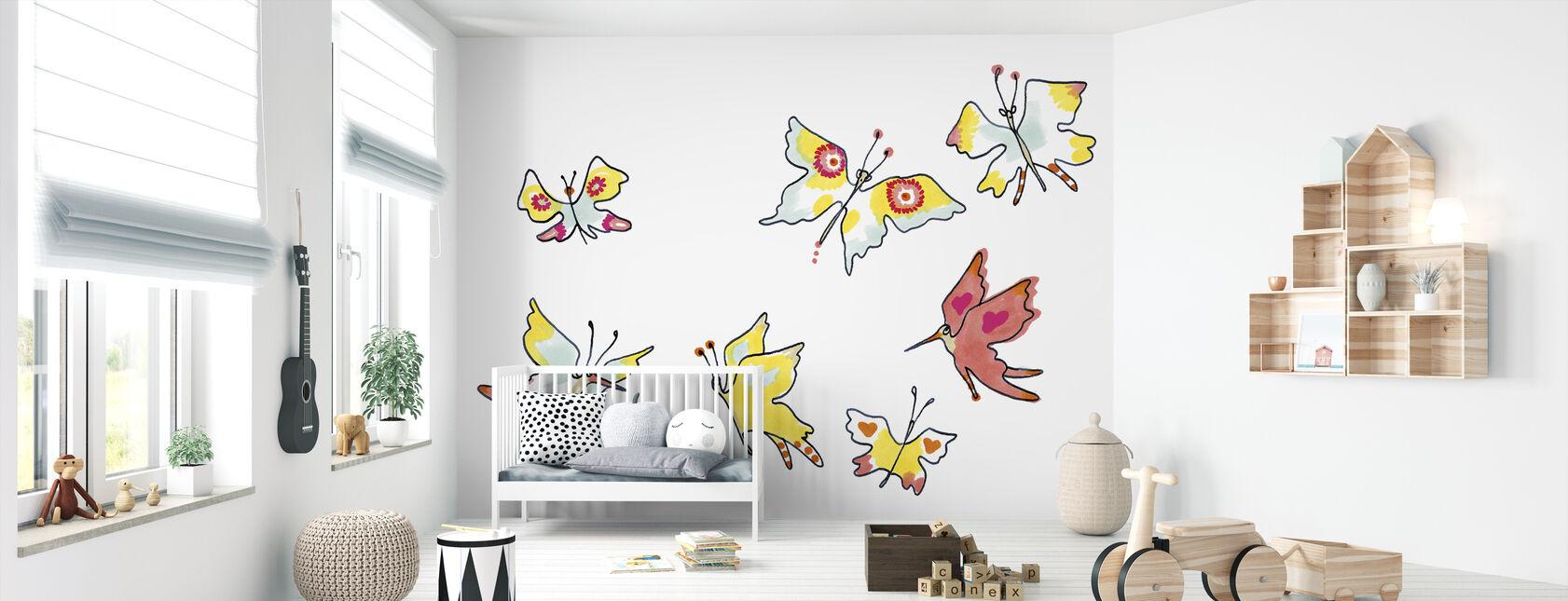 Whose Butterfly 3 - Wallpaper - Nursery
