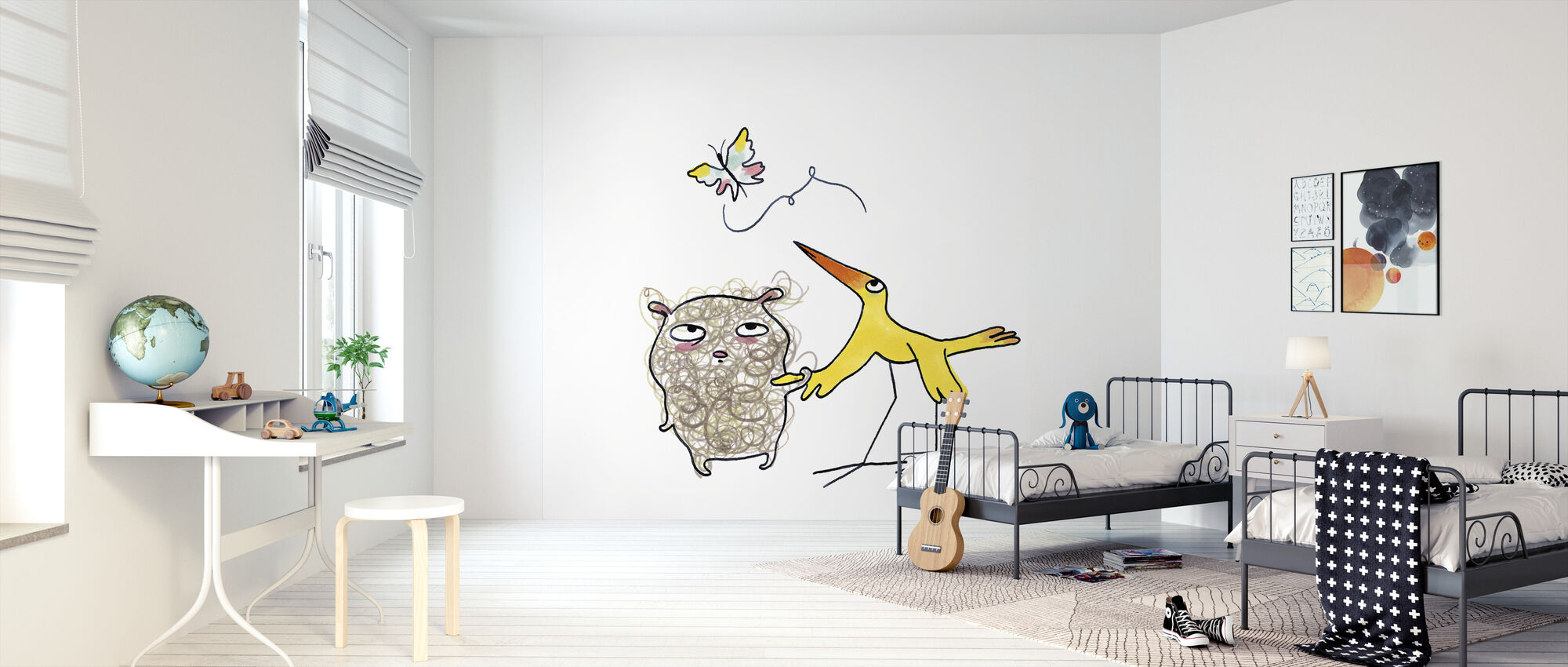 Whose Butterfly 4 - Wallpaper - Kids Room