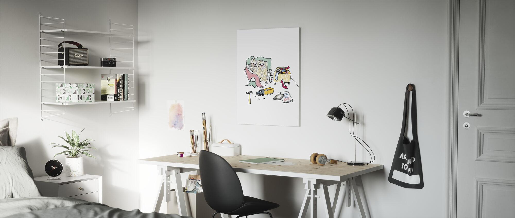 Whose toys - Canvas print - Kids Room