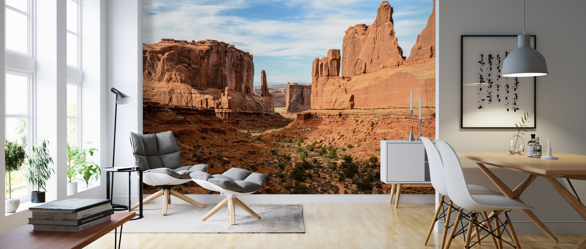 Park Avenue, Arches National Park - Wallpaper - Living Room