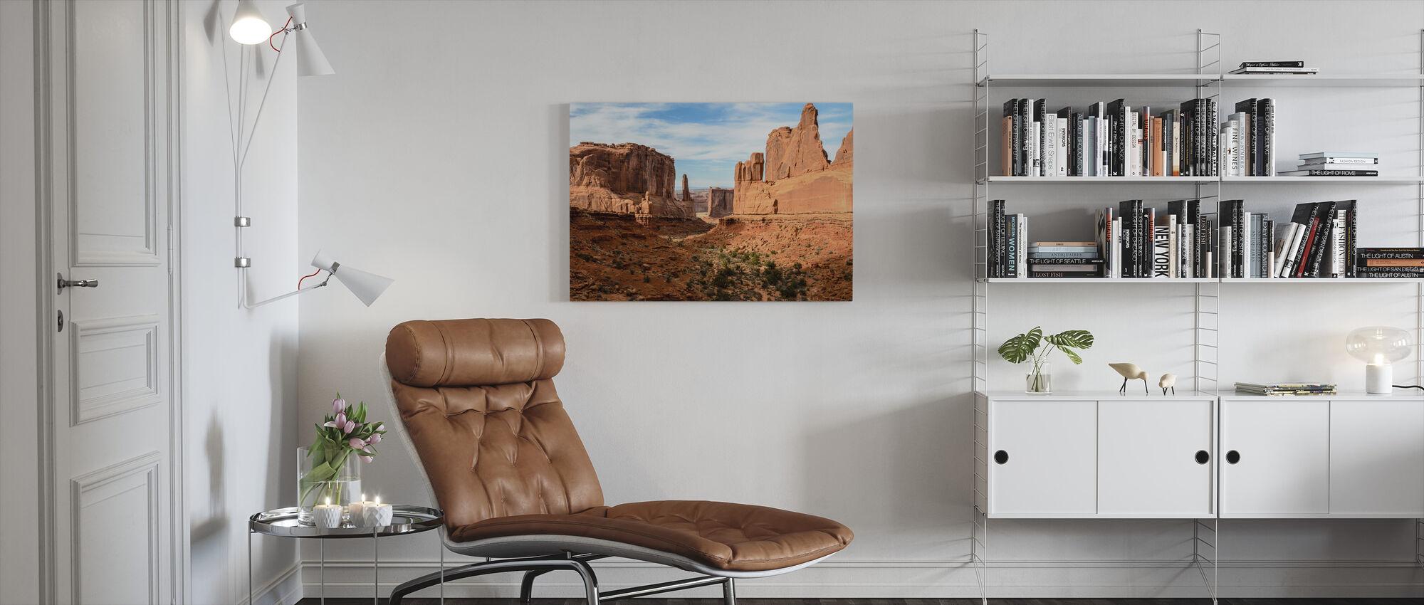 Park Avenue, Arches National Park - Canvas print - Living Room