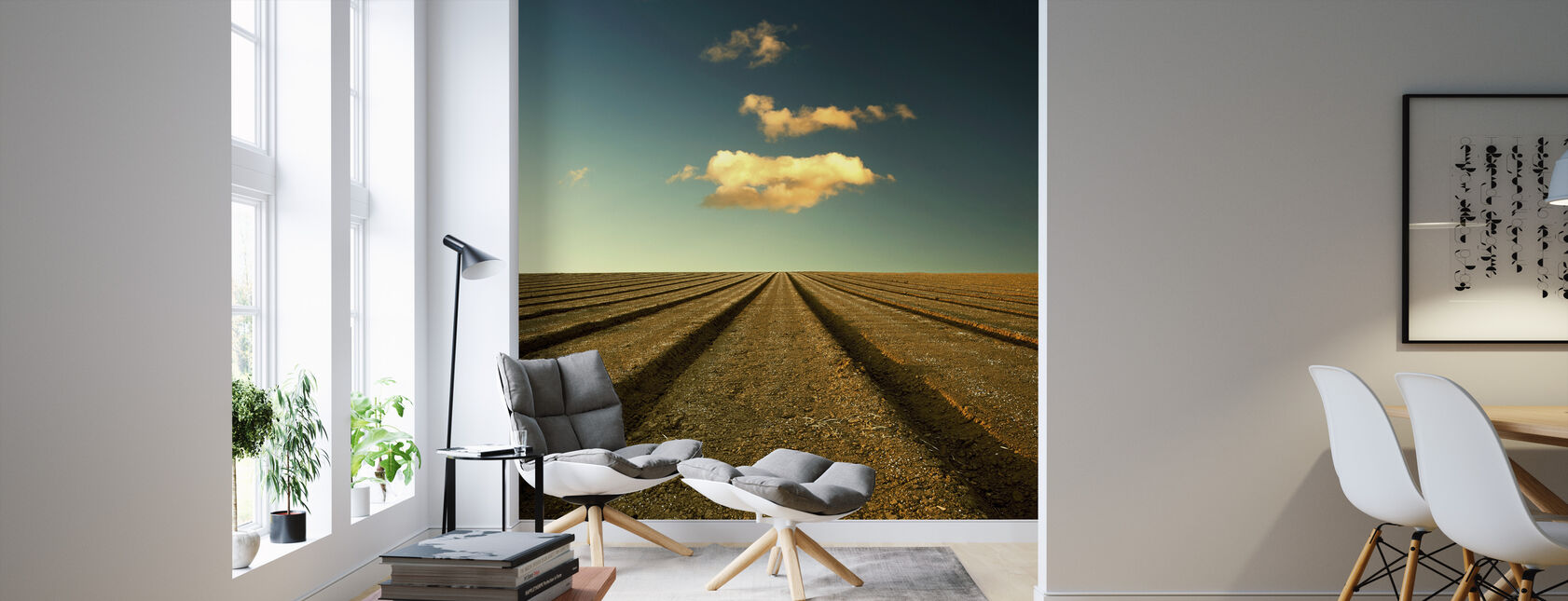 Ploughed Field and Sky - Wallpaper - Living Room