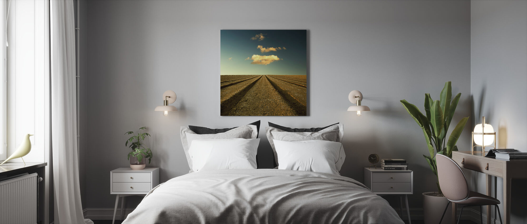 Ploughed Field and Sky - Canvas print - Bedroom