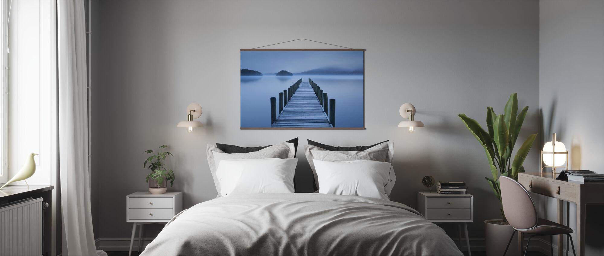 Blaue Stunde am See - Poster - Schlafzimmer