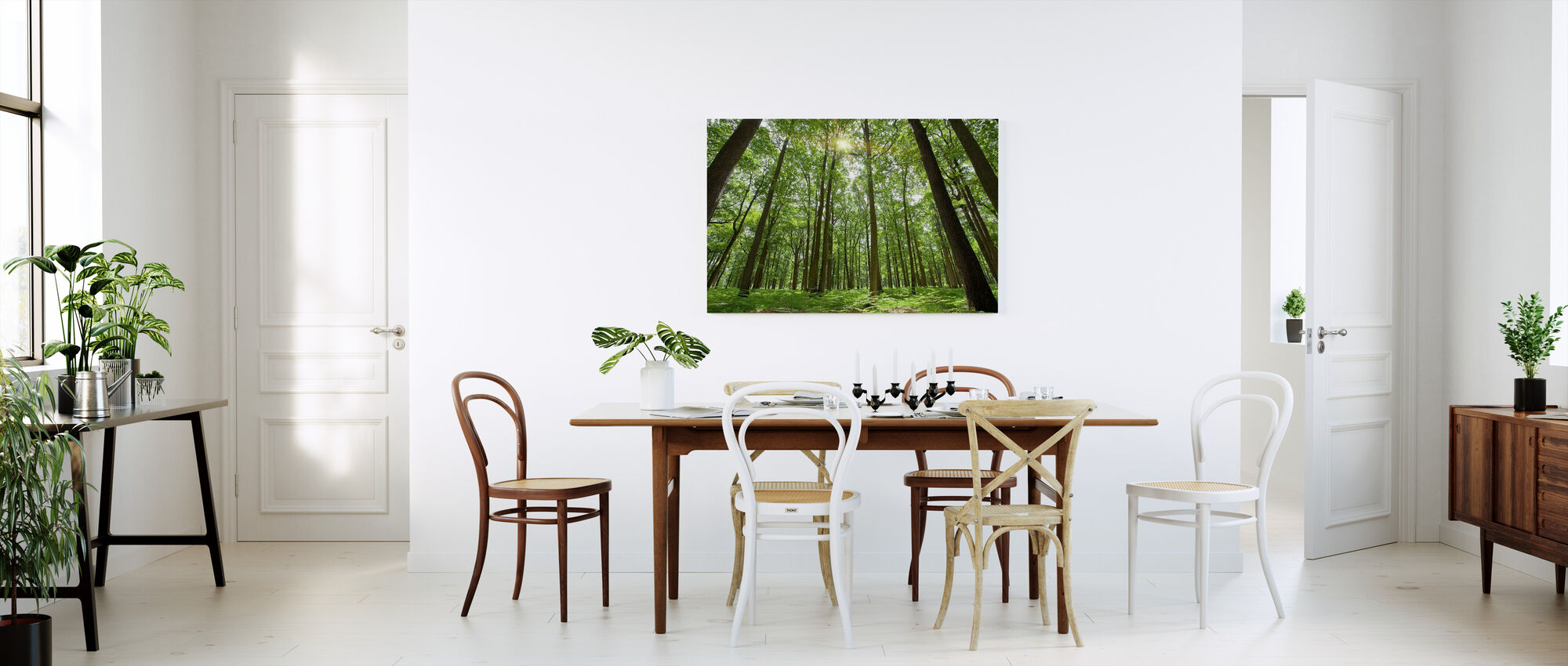 Emerald Green Forest - Canvas print - Kitchen