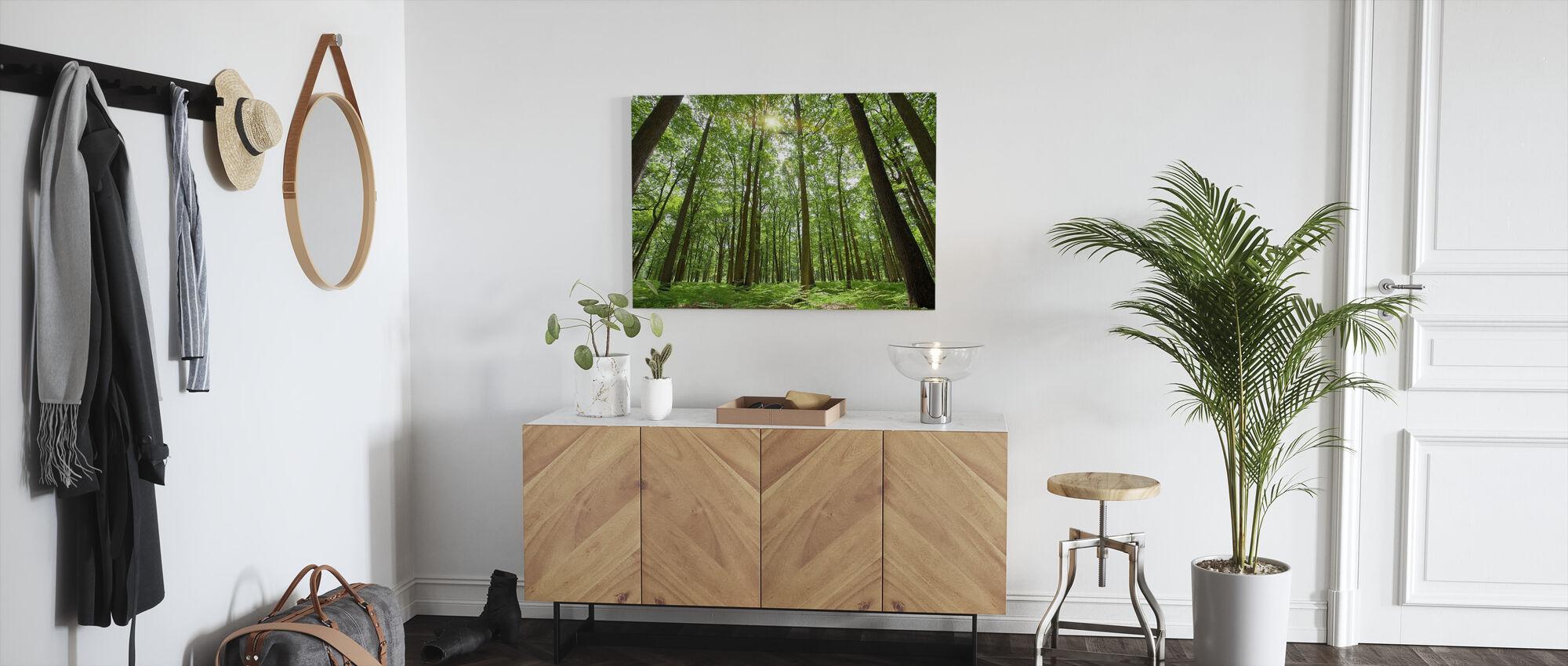 Emerald Green Forest - Canvas print - Hallway