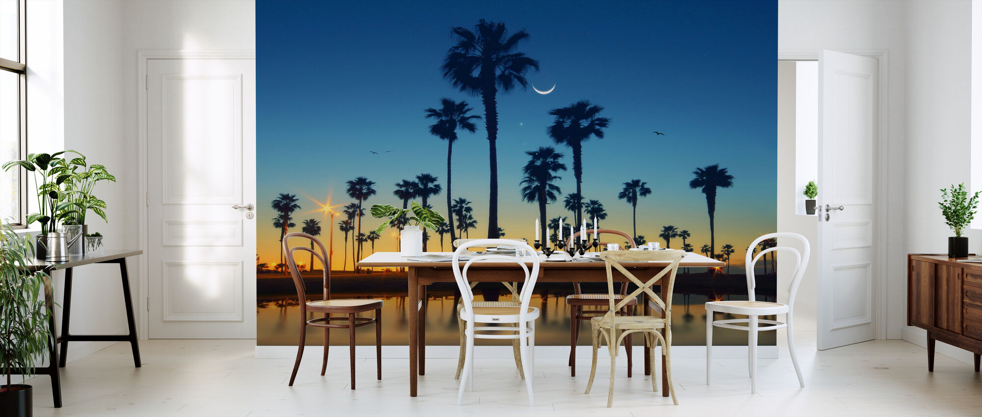 Row of Palm Trees - Wallpaper - Kitchen