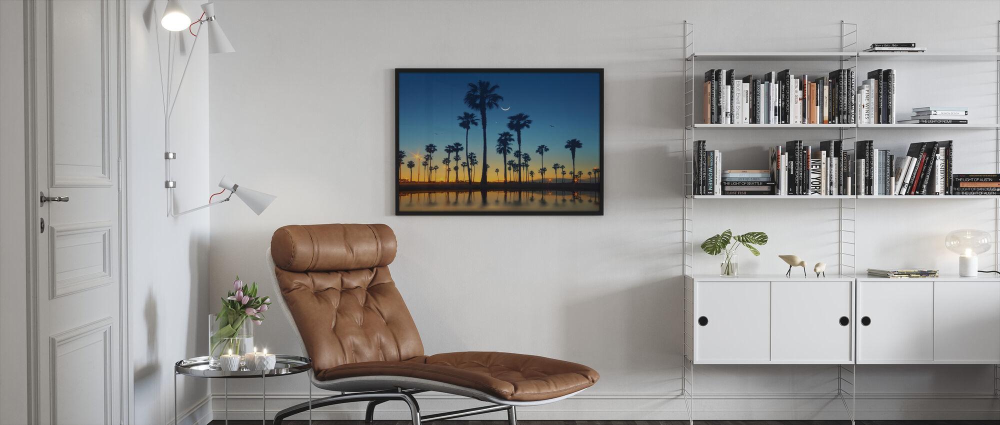 Rad av palmer - Innrammet bilde - Stue