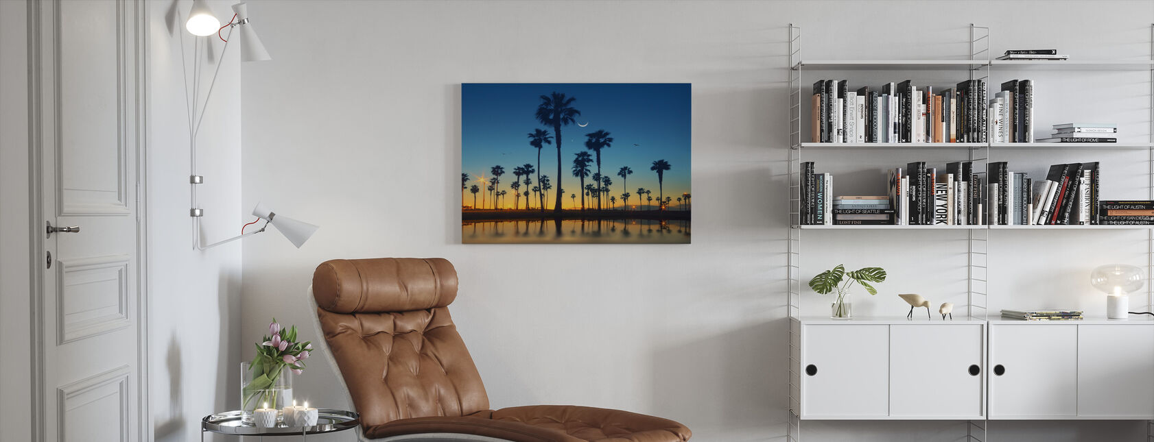 Row of Palm Trees - Canvas print - Living Room