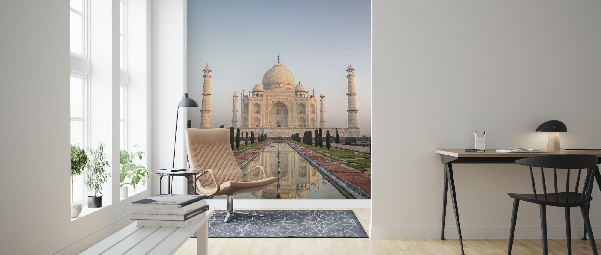 Soloppgang på Taj Mahal - Tapet - Stue