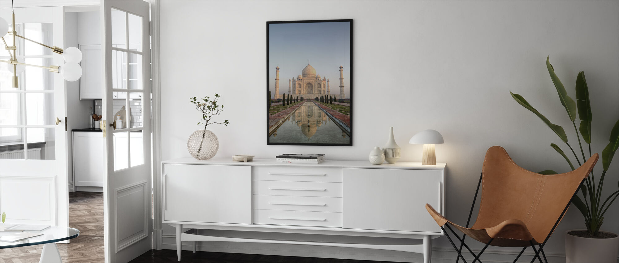 Sunrise at Taj Mahal - Framed print - Living Room