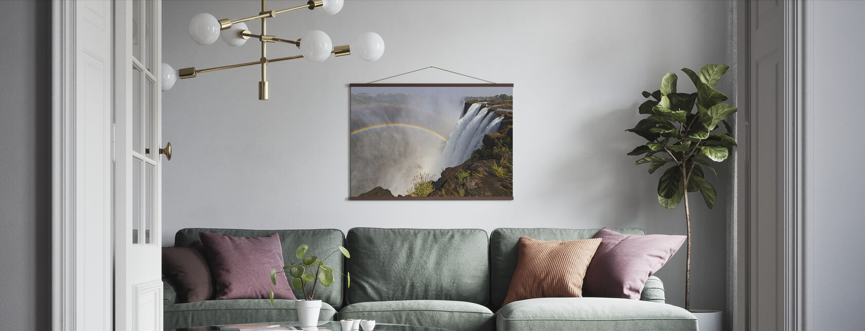 The Majestic Victoria Falls - Poster - Living Room