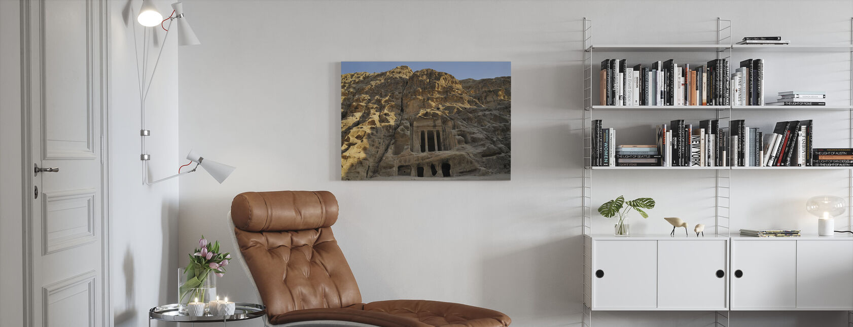 View of Petra - Canvas print - Living Room