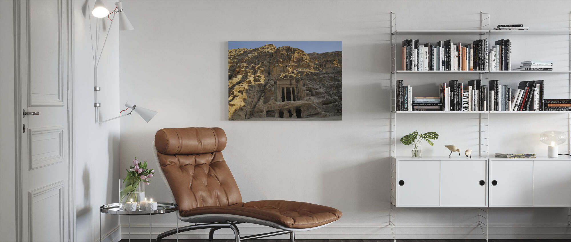 View of Petra - Canvas print - Living Room