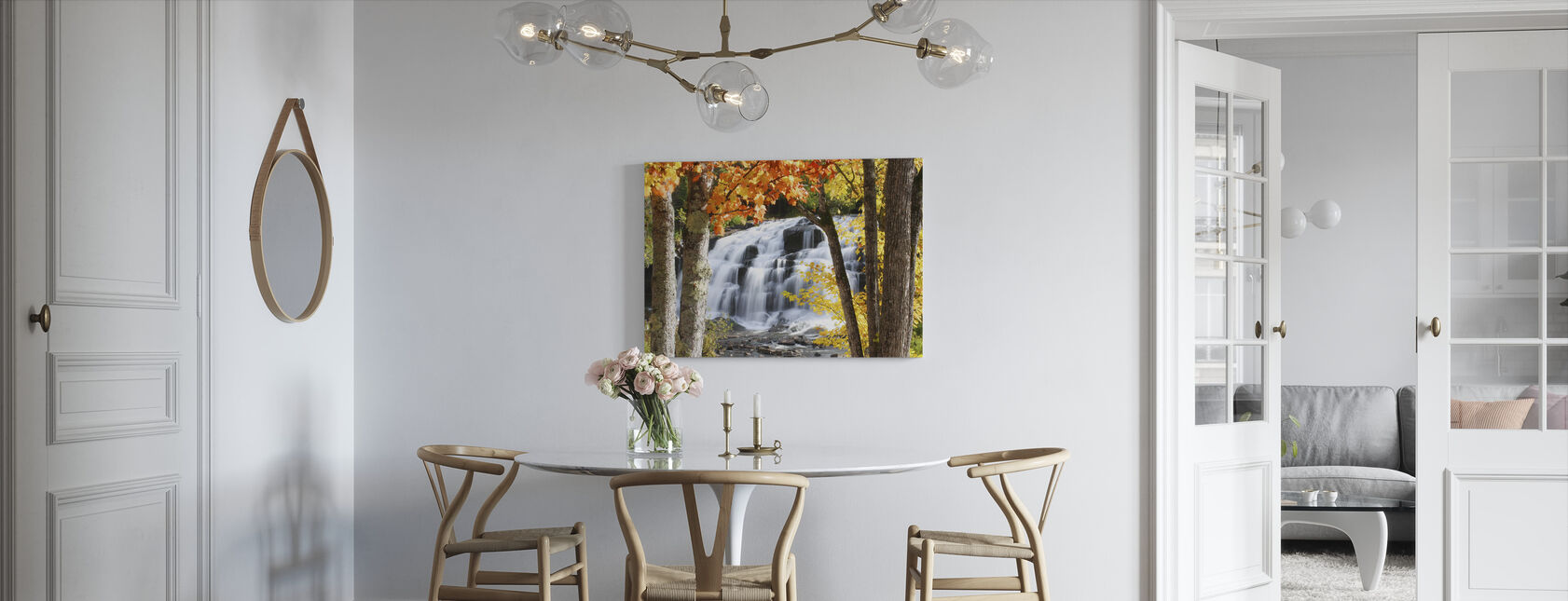 Bond Falls dressed in Autumn colors - Canvas print - Kitchen