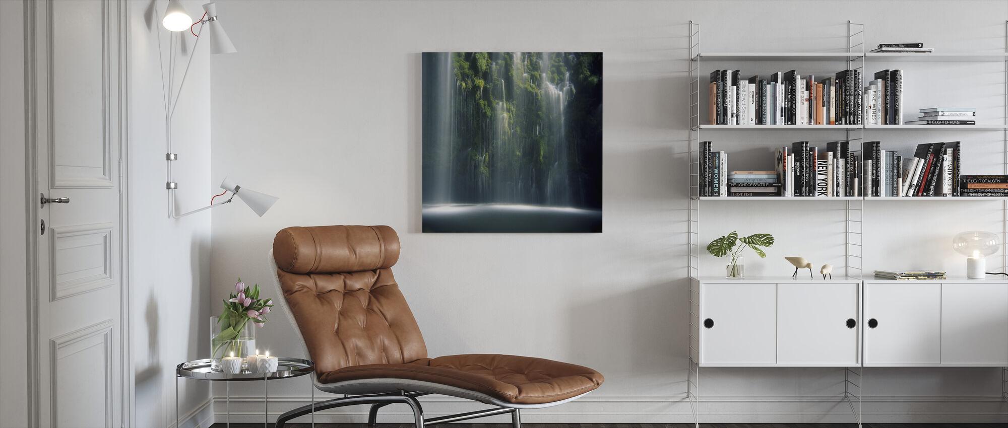Mossbrae Falls in Sunlight - Canvas print - Living Room