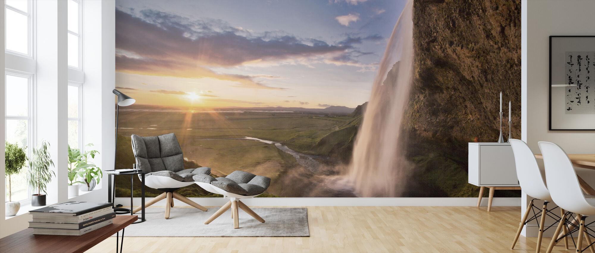 Seljalandsfoss Waterfall in Iceland - Wallpaper - Living Room
