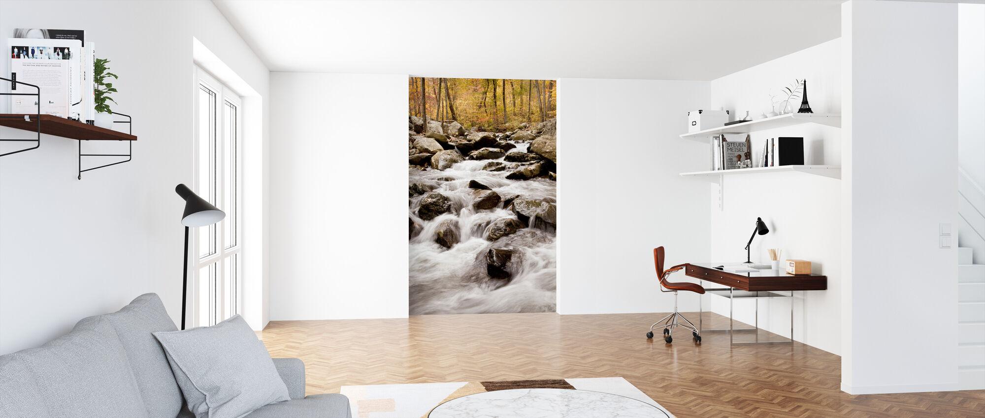 White Oak Canyon Falls - Wallpaper - Office