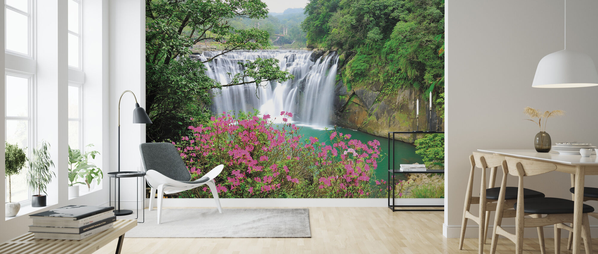 Shifen Waterfall - Wallpaper - Living Room