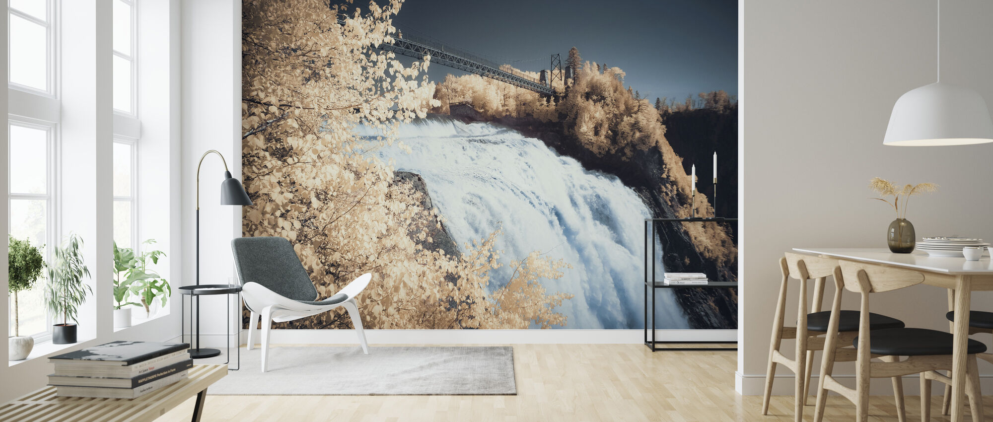 Passage High above the Clouds - Wallpaper - Living Room
