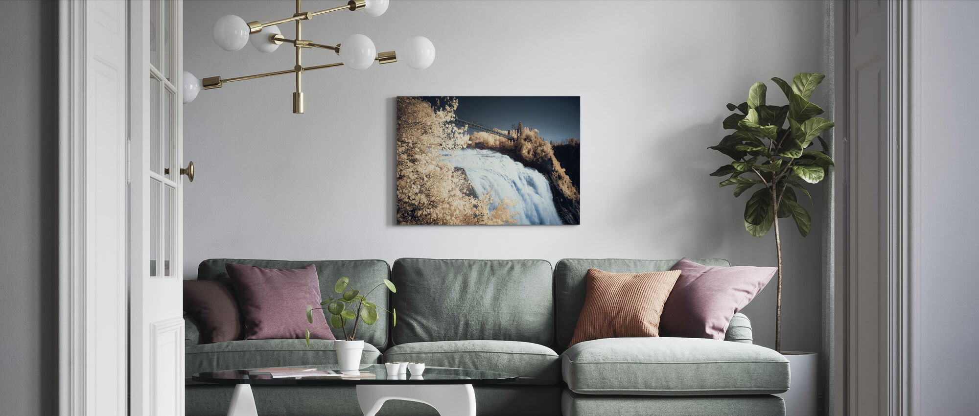 Passage High above the Clouds - Canvas print - Living Room