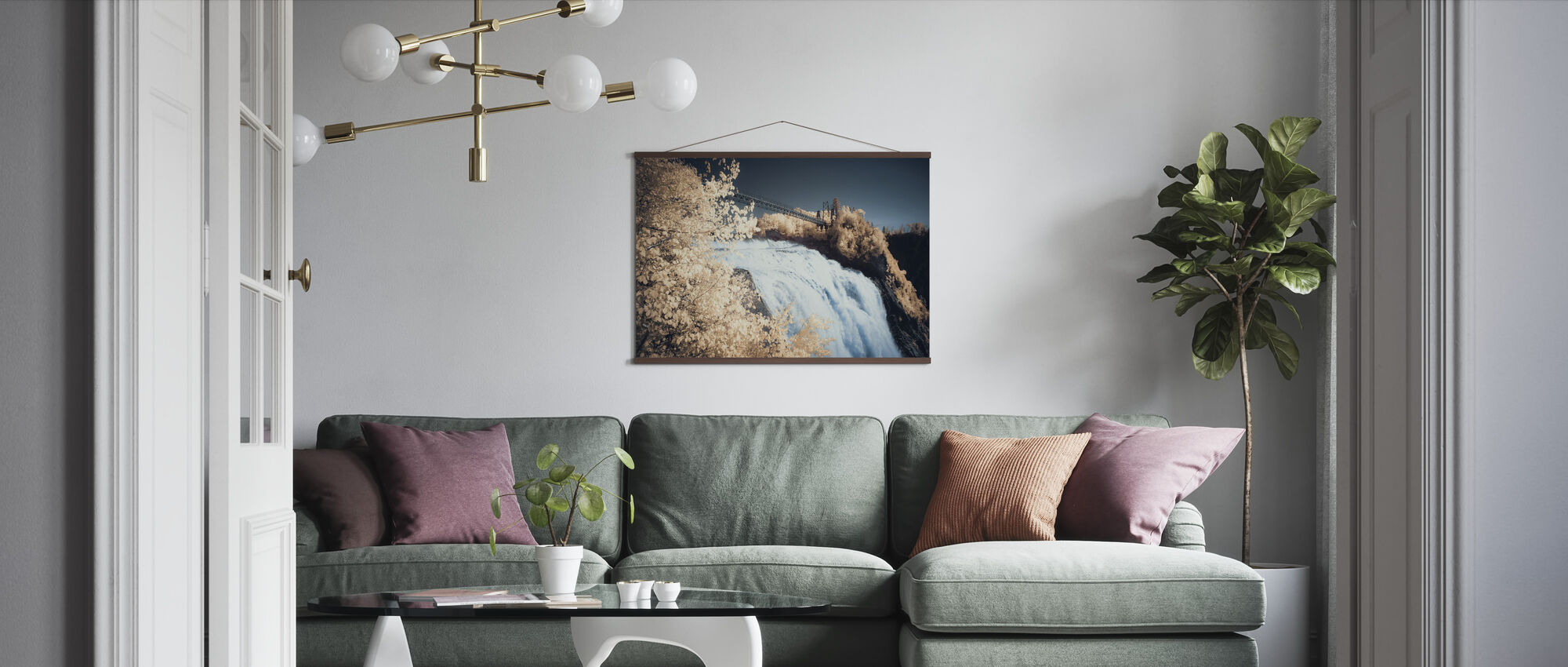 Passage High above the Clouds - Poster - Living Room