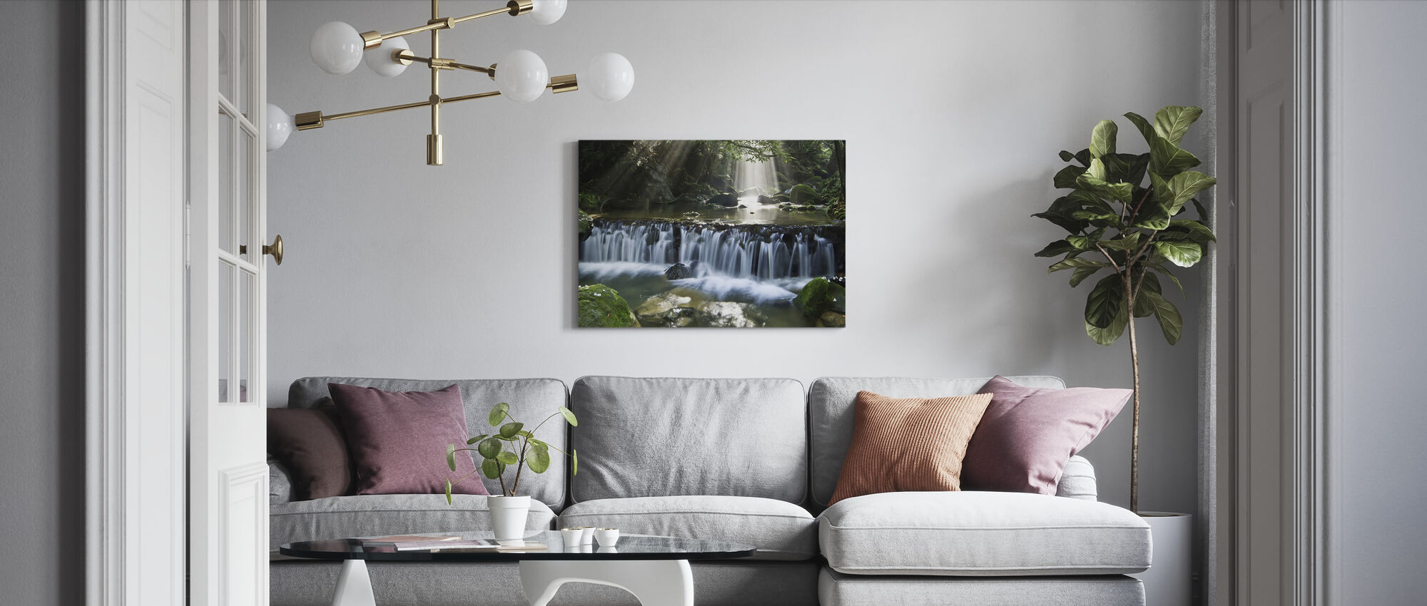 Oblique light - Canvas print - Living Room