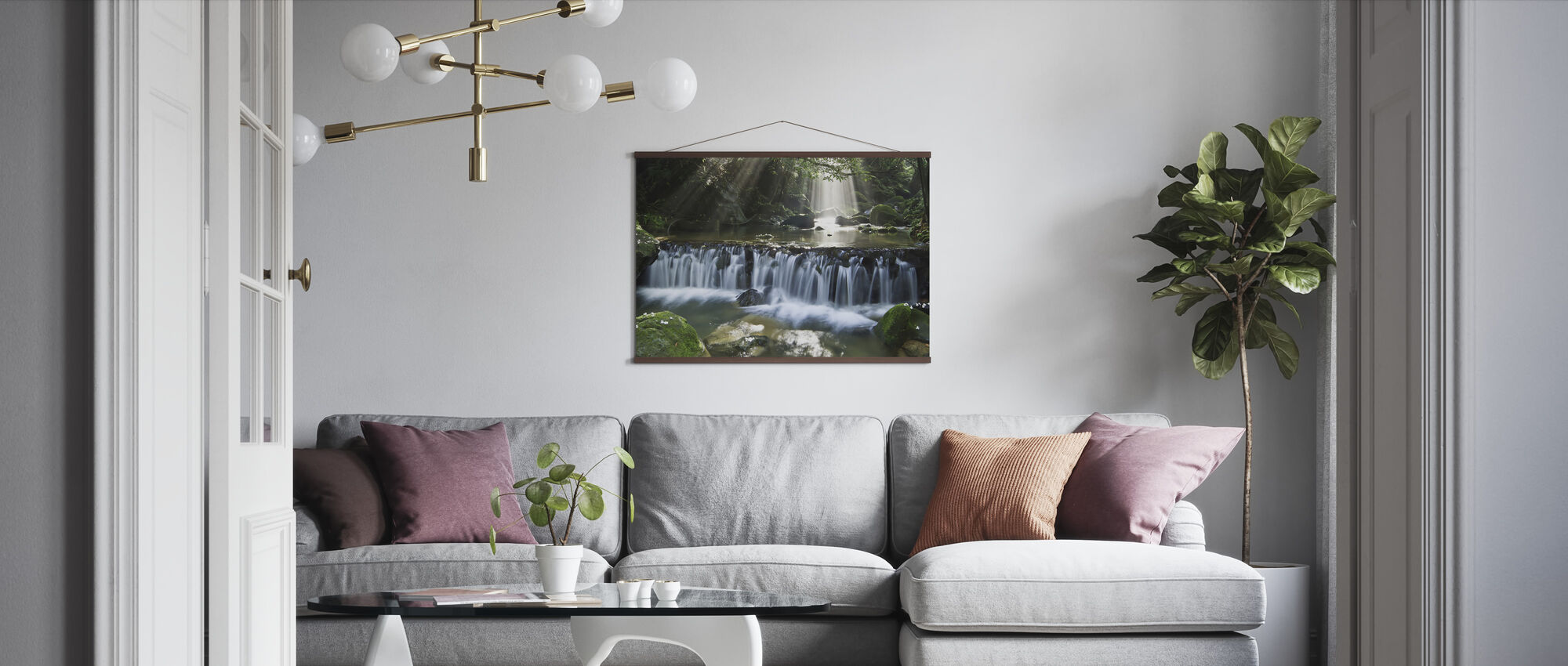 Oblique light - Poster - Living Room