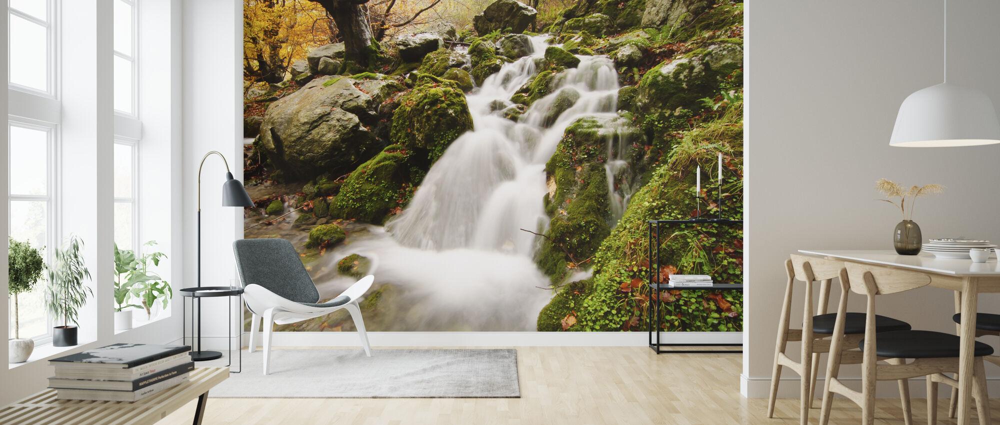 Waterfall of Collados del Ason - Wallpaper - Living Room