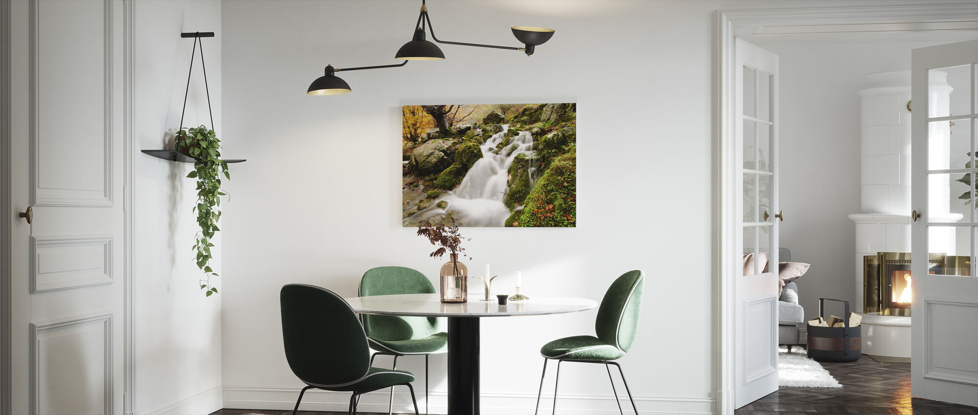 Waterfall of Collados del Ason - Canvas print - Kitchen