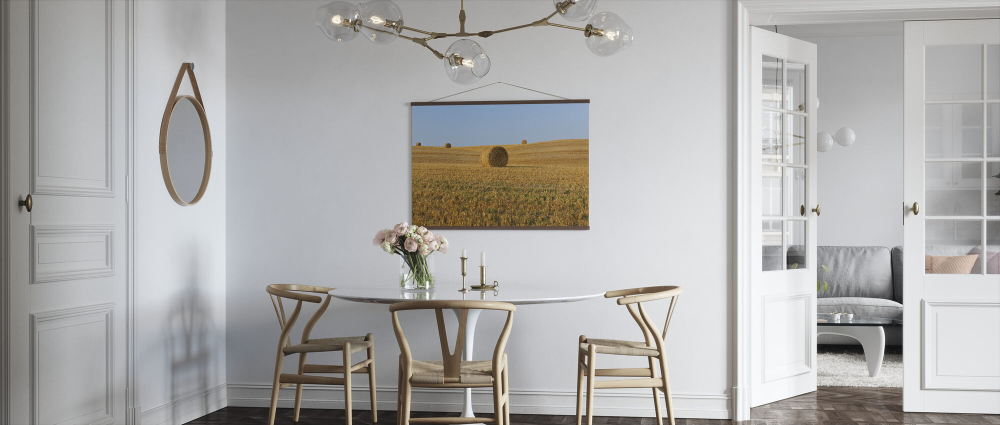 Harvested Wheat Field - Poster - Kitchen