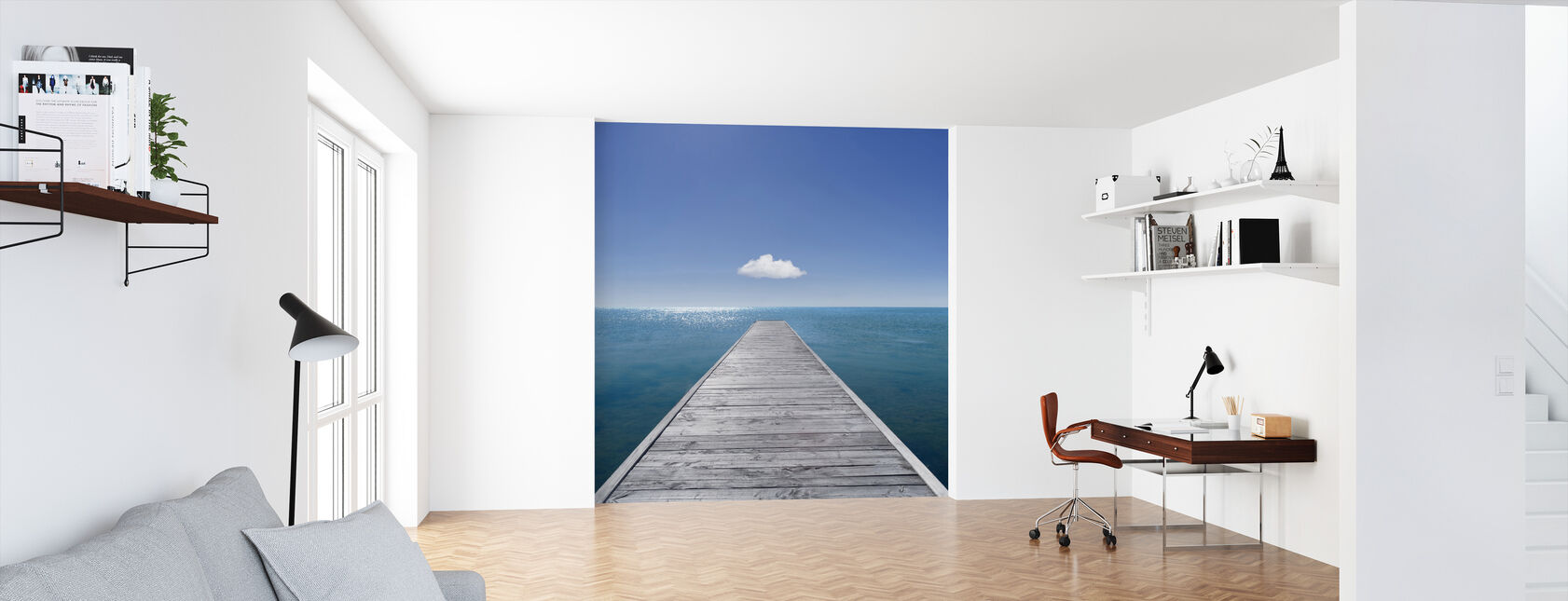 Jetty into the Horizon - Wallpaper - Office