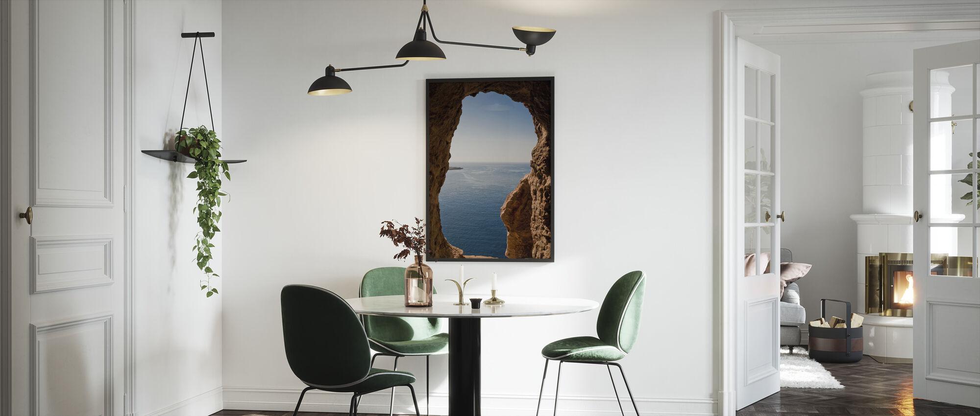 Menorcan Seascape - Kehystetty kuva - Keittiö