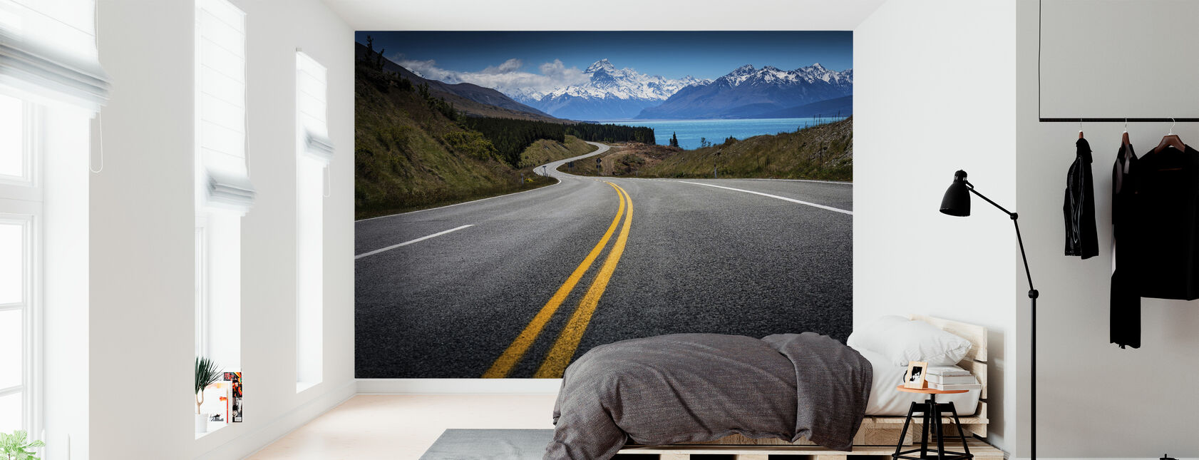 Road to Mount Cook - Wallpaper - Bedroom