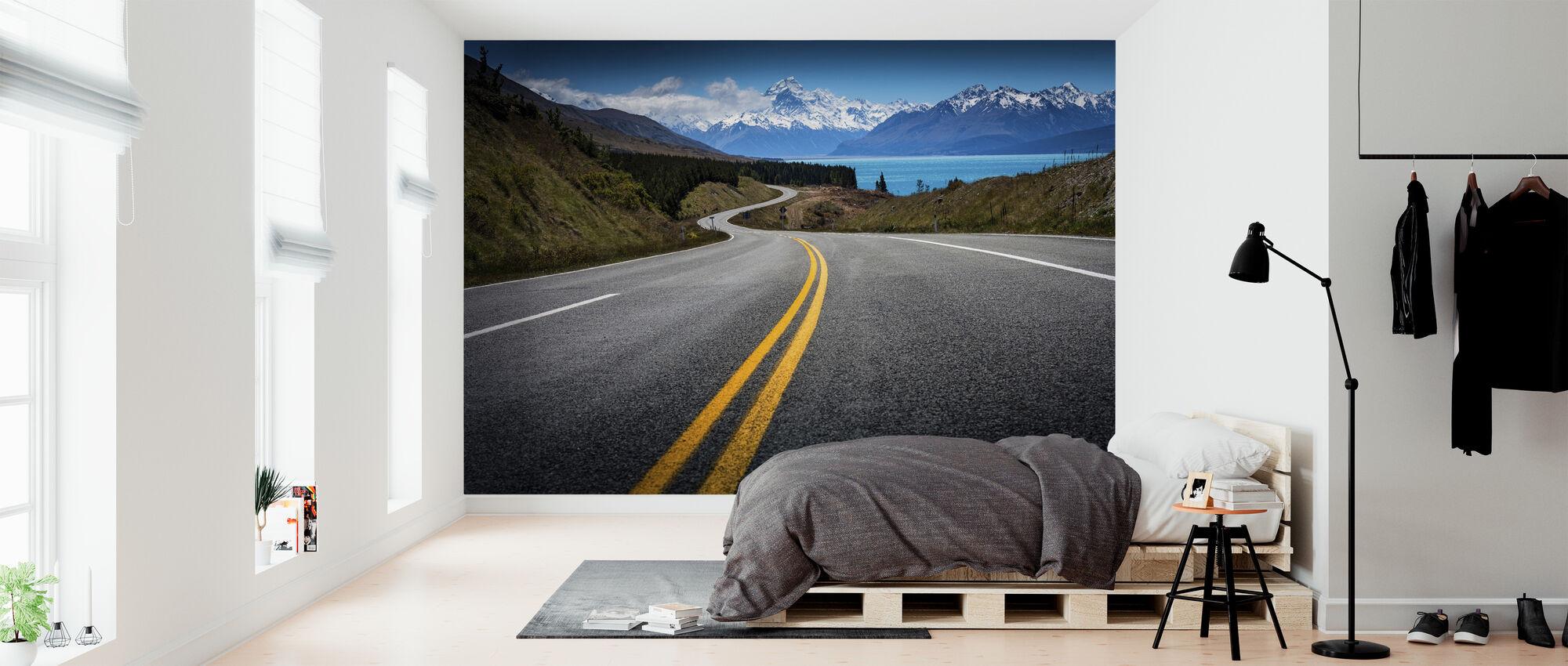 Road to Mount Cook - Wallpaper - Bedroom