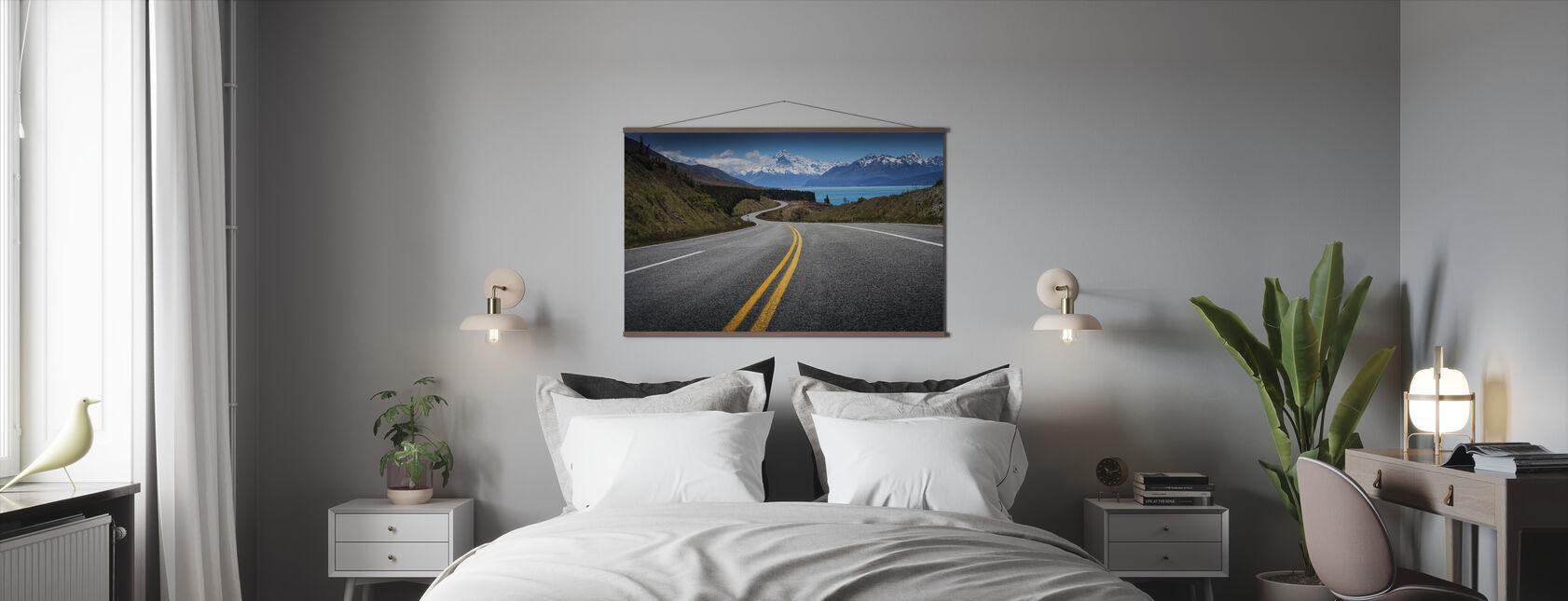 Weg zum Mount Cook - Poster - Schlafzimmer