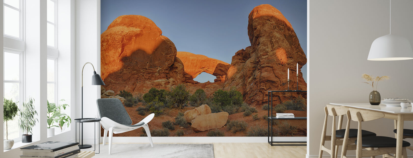 Sunrise Light on Turret Arch - Wallpaper - Living Room