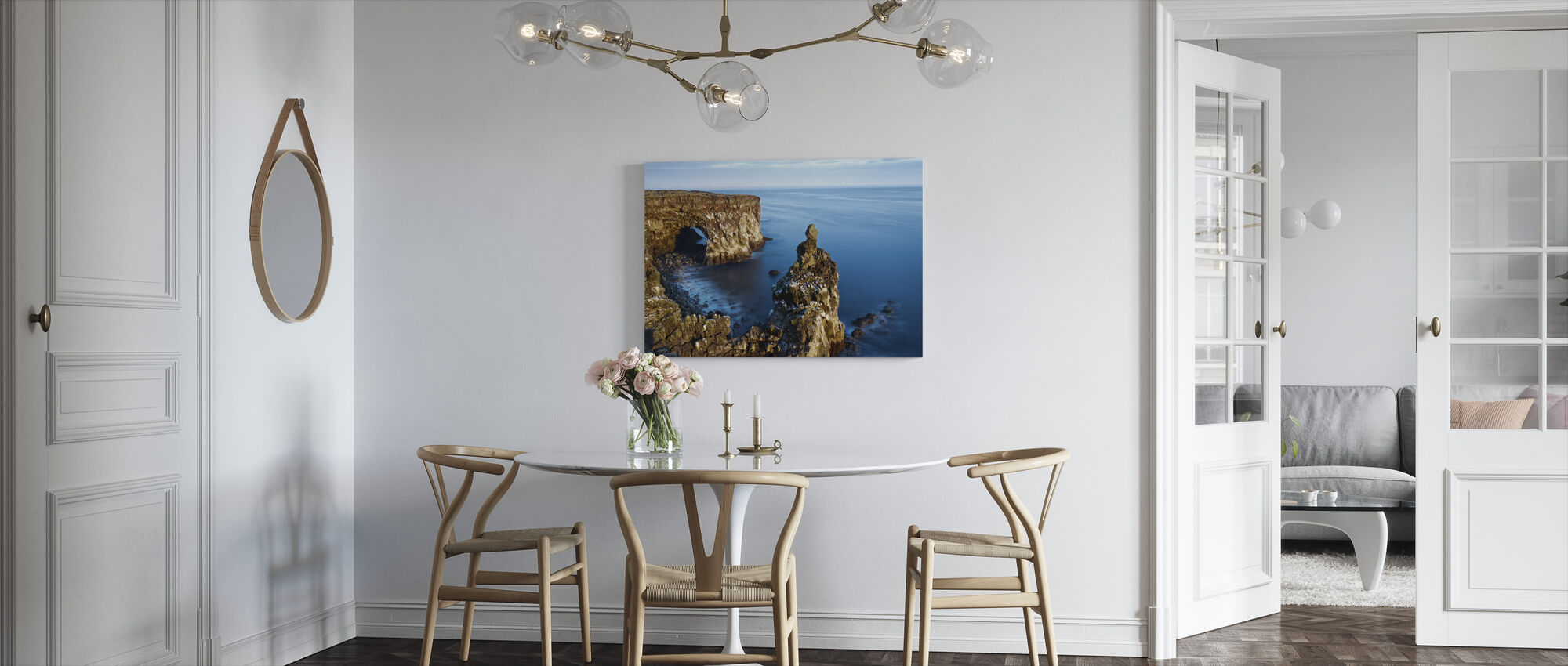 Svortuloft Klipper - Island - Lerretsbilde - Kjøkken