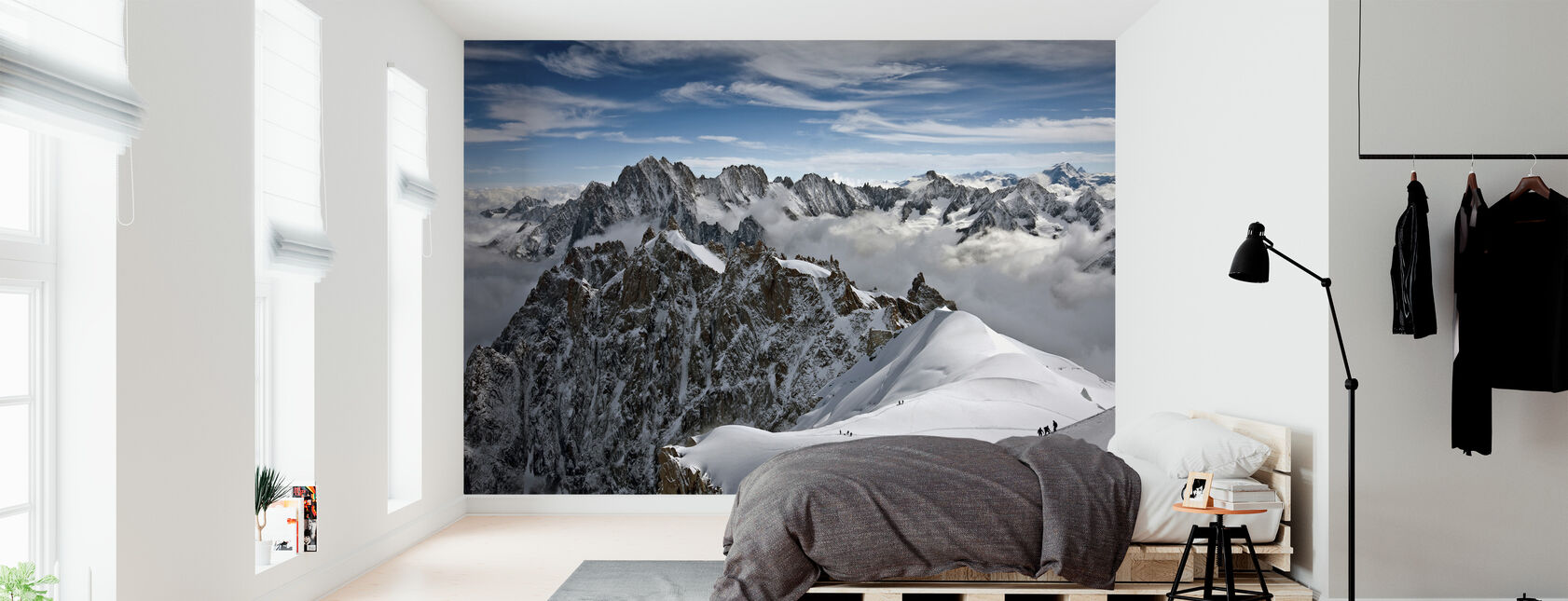View of overlooking Alps - Wallpaper - Bedroom