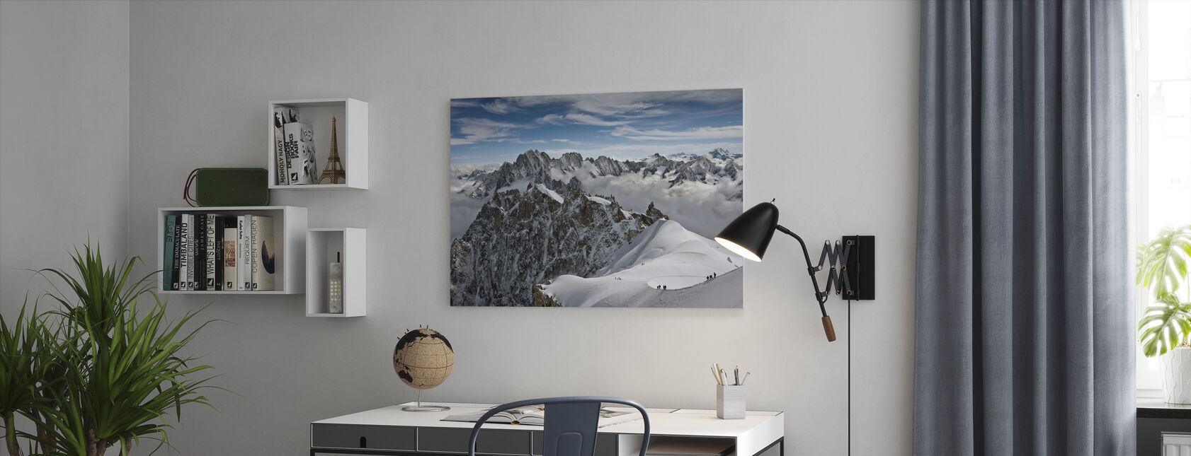 View of overlooking Alps - Canvas print - Office