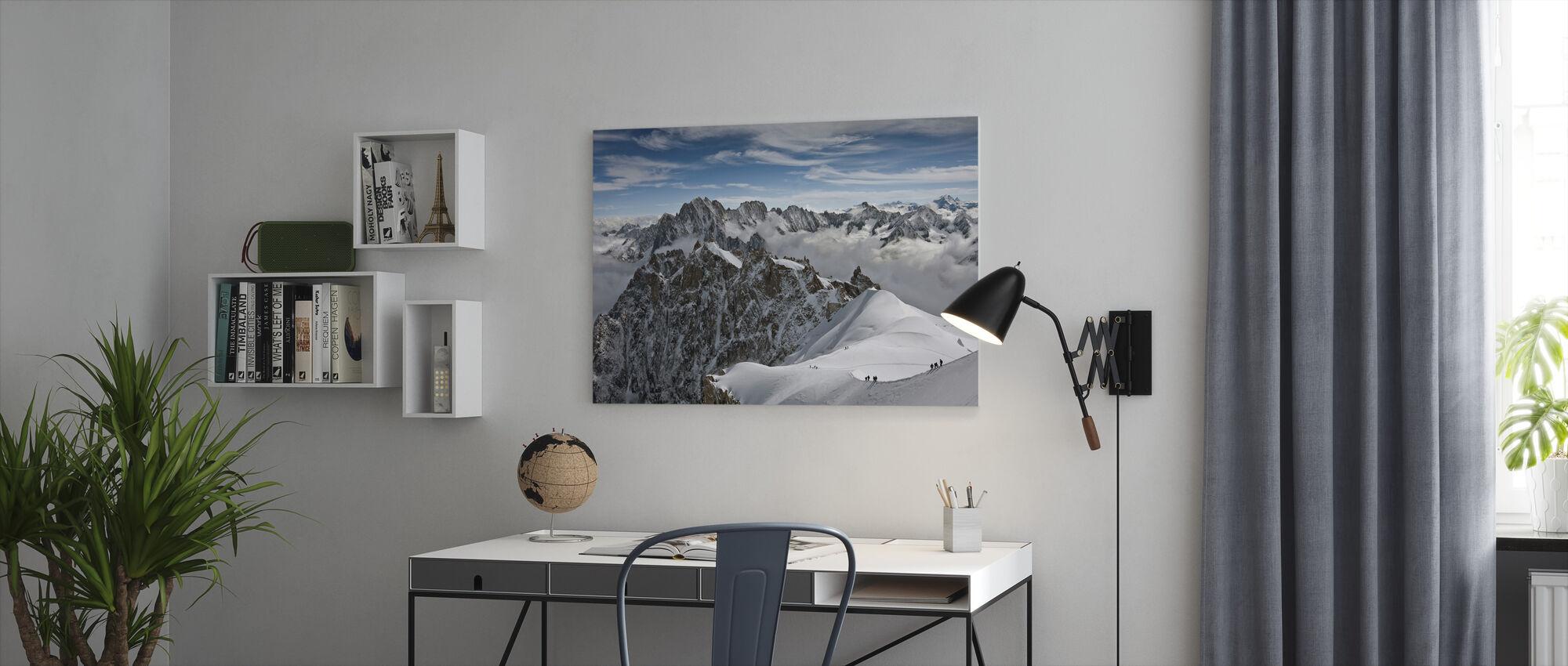 Gezicht op Alpen - Canvas print - Kantoor
